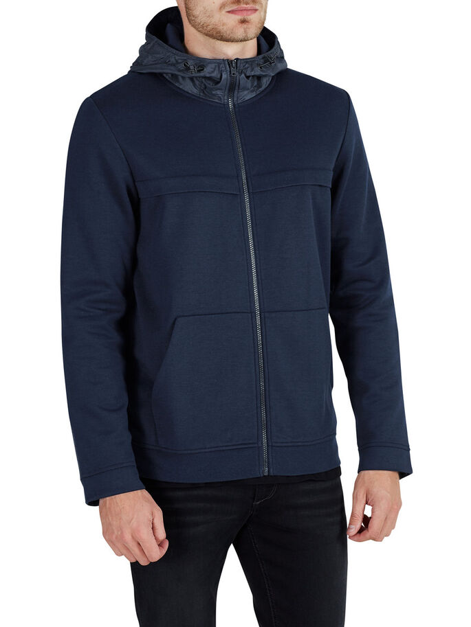 DETAILED ZIPPED SWEAT, Sky Captain, large