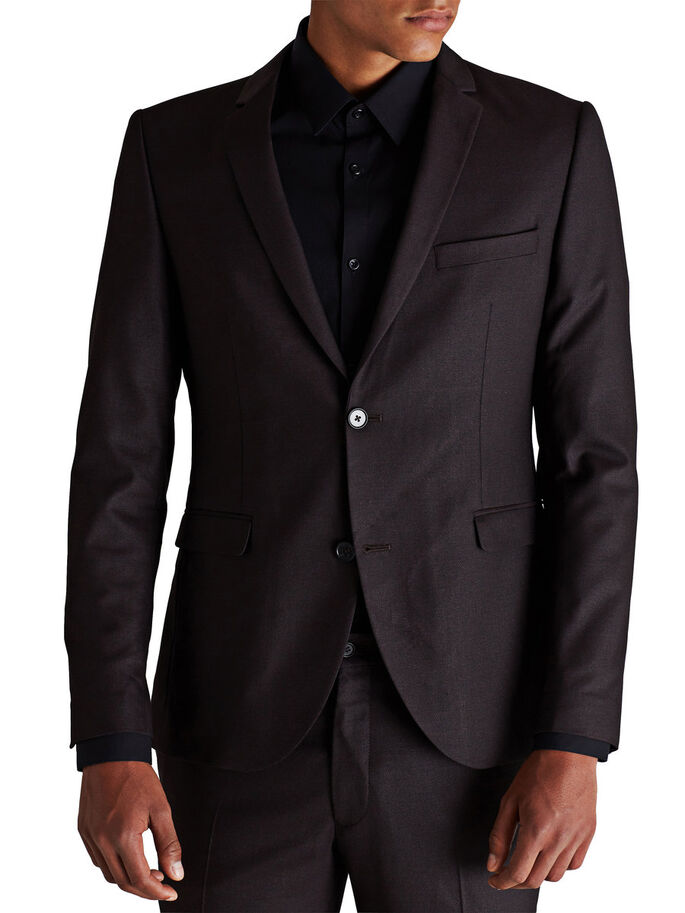 ELEGANT SLIM FIT BLAZER, Port, large