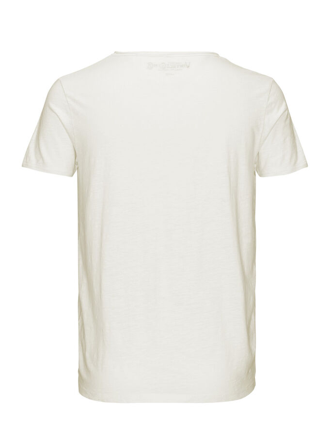 SPILT NECK T-SHIRT, Whisper White, large