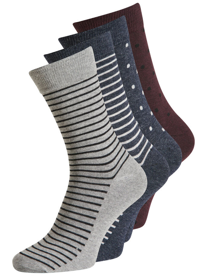 CLASSIC 4-PACK SOCKS, Dark Navy, large