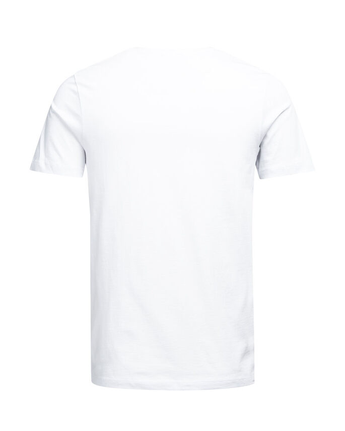 GRAFISCH T-SHIRT, White, large