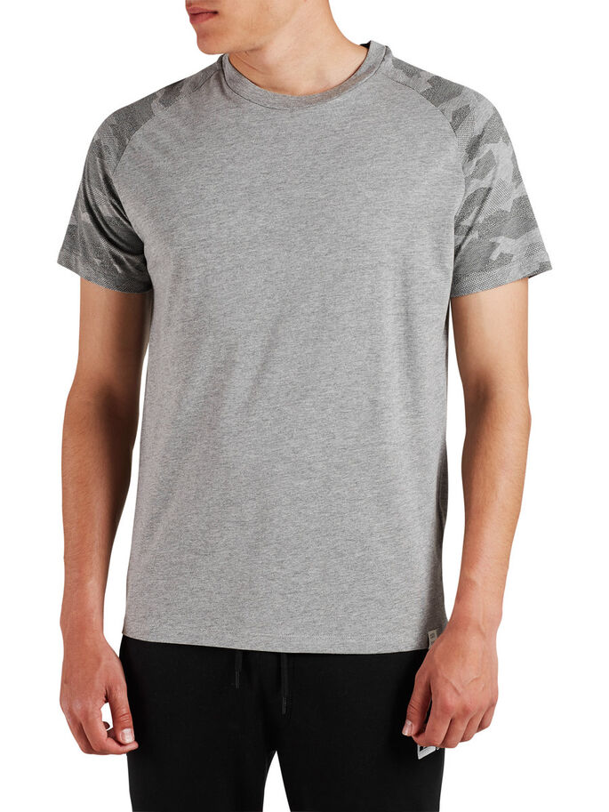 CAMOUFLAGE T-SHIRT, Light Grey Melange, large
