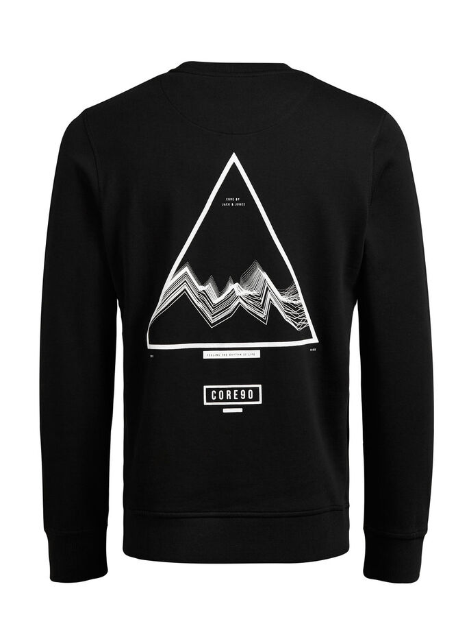 GRAFIK- SWEATSHIRT, Black, large