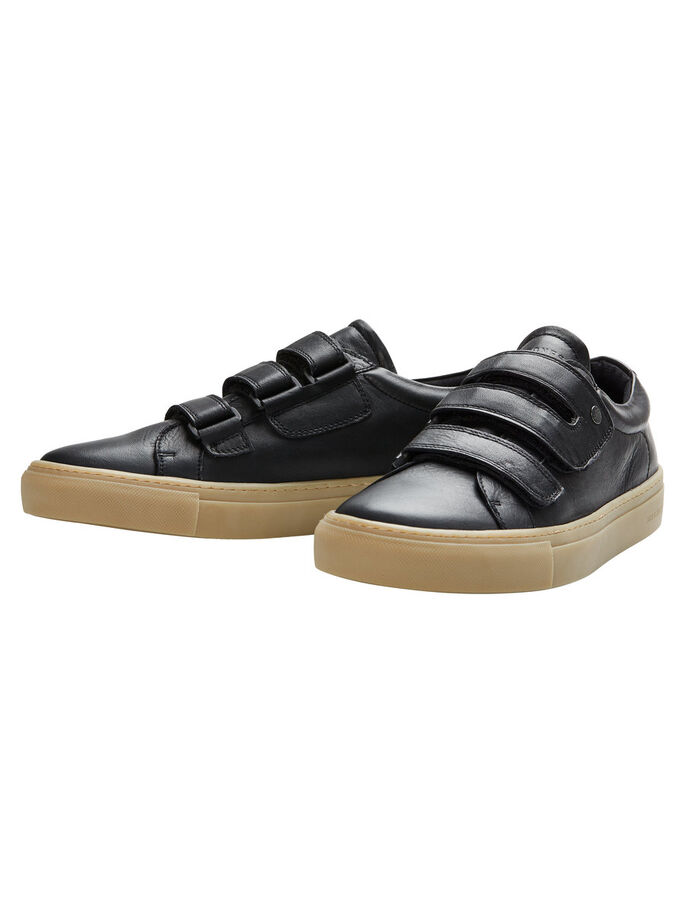 LEATHER SHOES, Anthracite, large