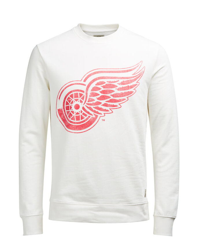 NHL-TRYCKT SWEATSHIRT, Cloud Dancer, large