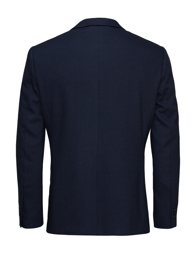 SHARP SLIM-FIT BLAZER, Dark Navy, large