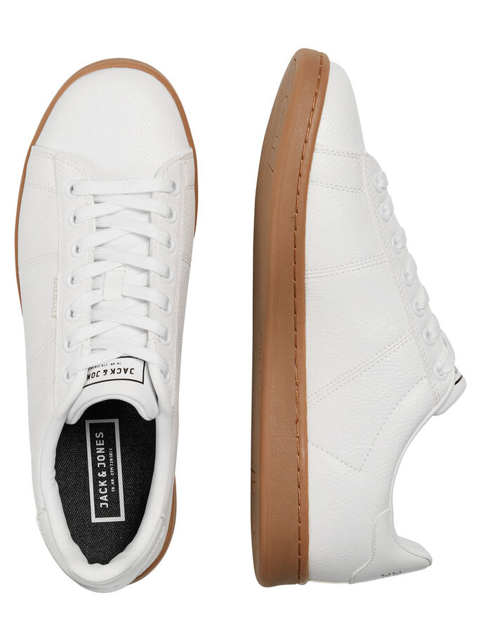 GUMMISOHLEN- SNEAKER, Bright White, large