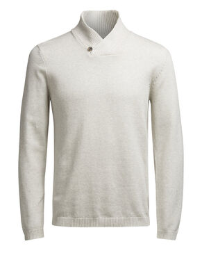 SHAWL NECK KNITTED PULLOVER