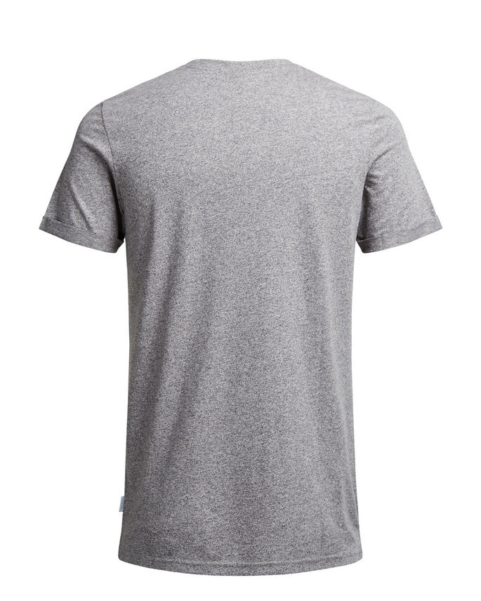 GEMÊLEERD T-SHIRT, Light Grey Melange, large