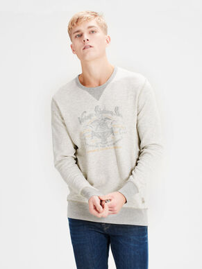 CHEST PRINT SWEATSHIRT