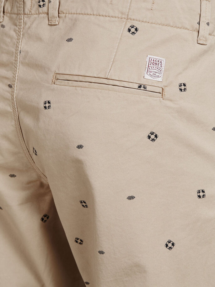GRAHAM - SHORTS CHINOS, White Pepper, large