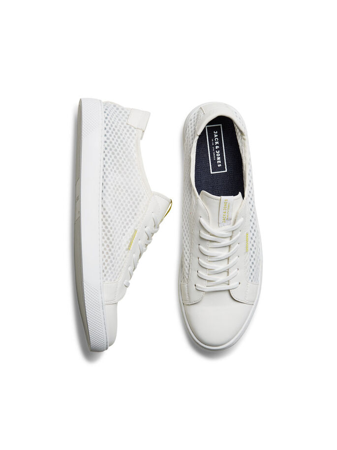 MESH SNEAKERS, Bright White, large