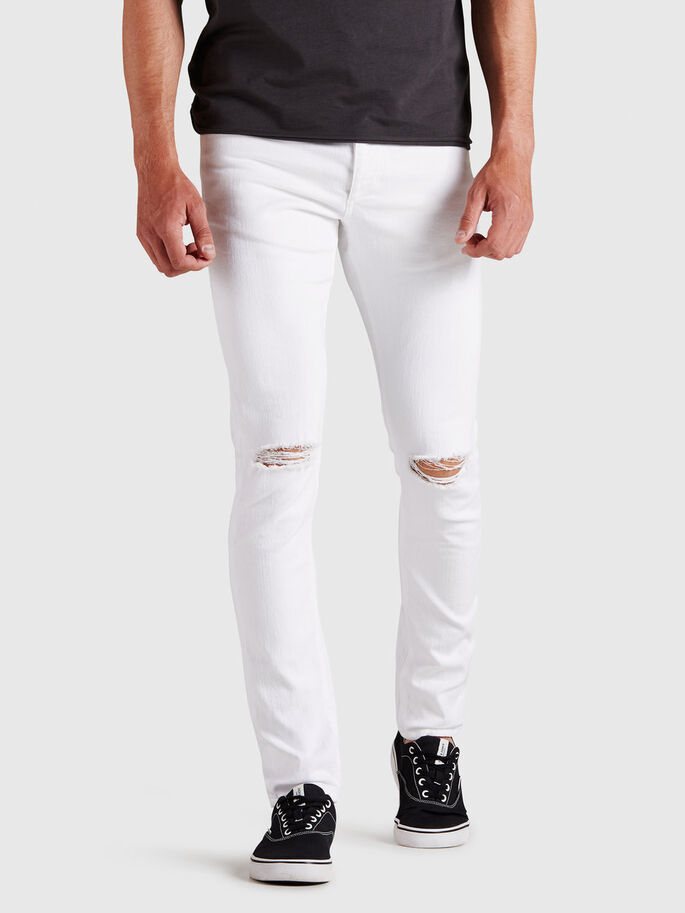 GLENN ORIGINAL AKM 122 JEAN SLIM, White, large