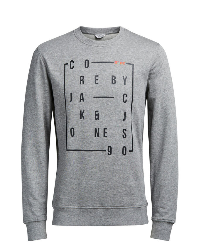 GRAPHISME SWEAT À CAPUCHE, Light Grey Melange, large
