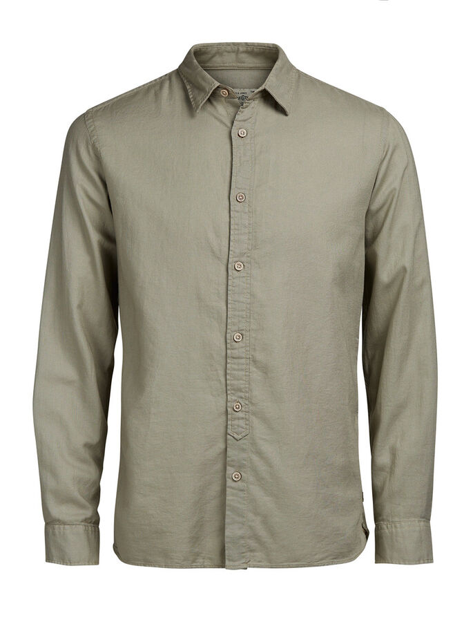 CASUAL LONG SLEEVED SHIRT, Laurel Oak, large