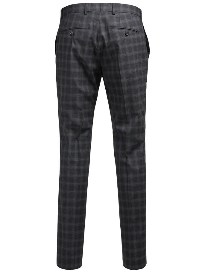 CHECK FORMAL TROUSERS, Dark Grey, large