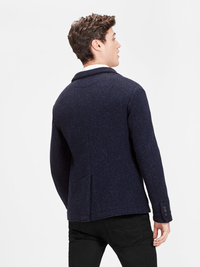 WOOL-BLEND BLAZER, Dark Navy, large