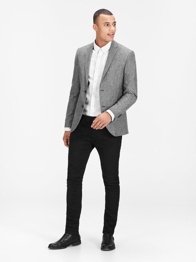 LAINE CHINÉE BLAZER, Dark Grey, large