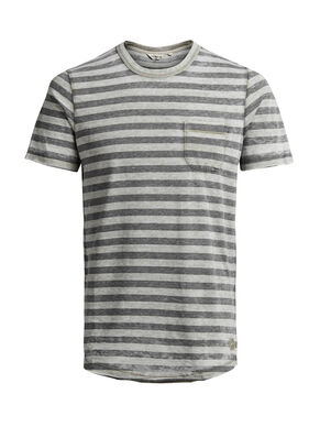 STRIPED MELANGE T-SHIRT
