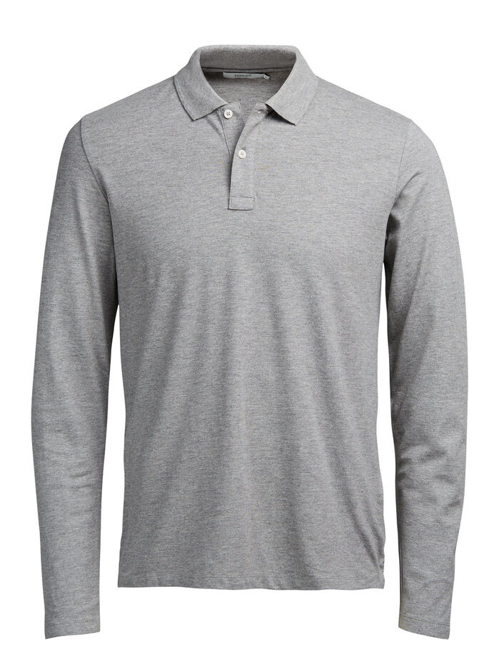 MINIMALISTA POLO, Light Grey Melange, large