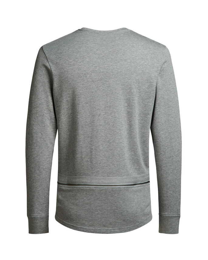 DETAILED SWEATSHIRT, Light Grey Melange, large