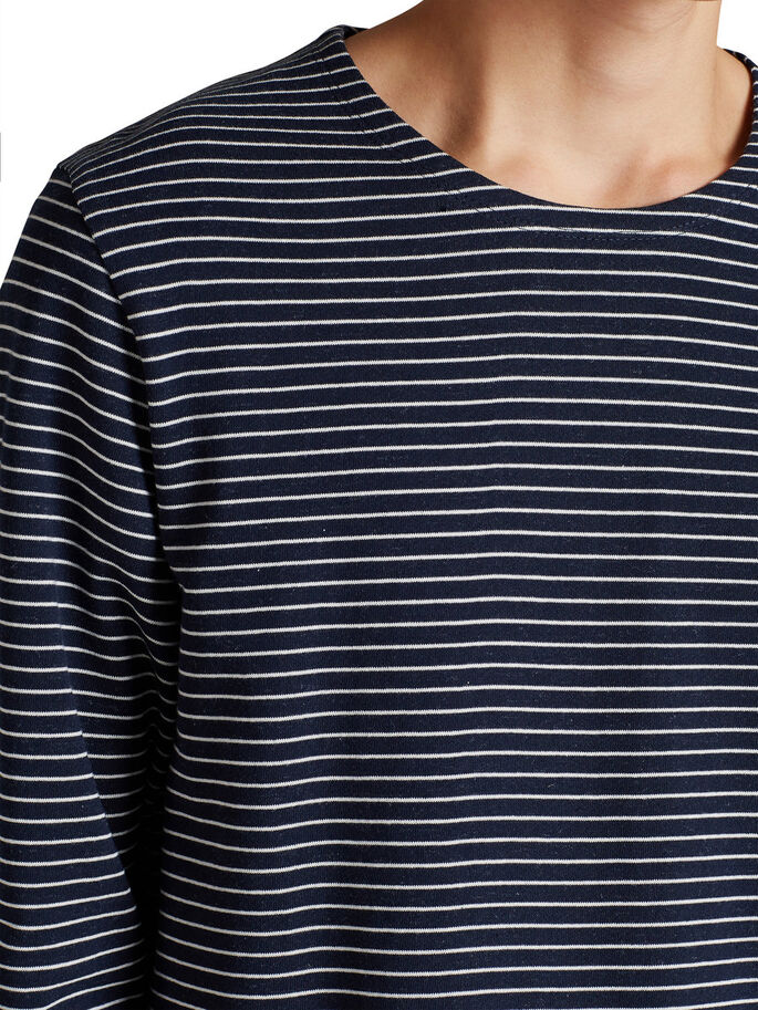 STRIPED SWEATSHIRT, Navy Blazer, large