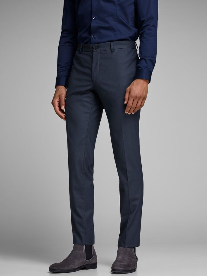 CLASSIC SLIM FIT SUIT PANTS, Dark Navy, large