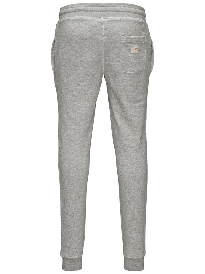 GERECYCLED SWEATBROEK, Light Grey Melange, large