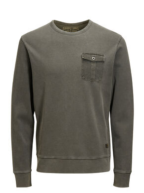 MICRO STRUCTURED SWEATSHIRT