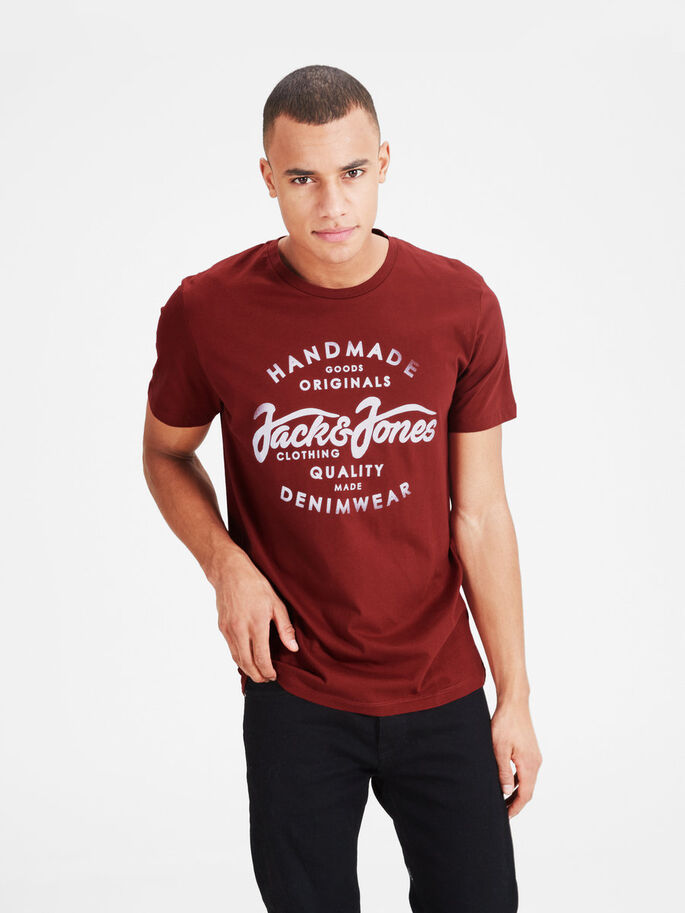 CASUAL T-SHIRT, Rosewood, large