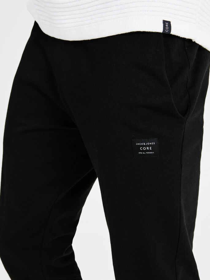 TIGHT FIT SWEAT PANTS, Black, large