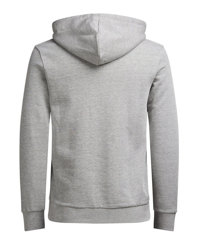 ESTAMPADA SUDADERA CON CAPUCHA, Light Grey Melange, large