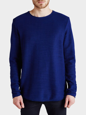 SLUB EFFECT SWEATSHIRT