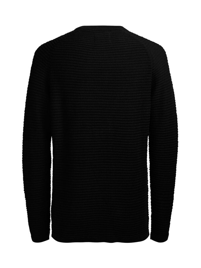 TEXTURIERTER PULLOVER, Black, large
