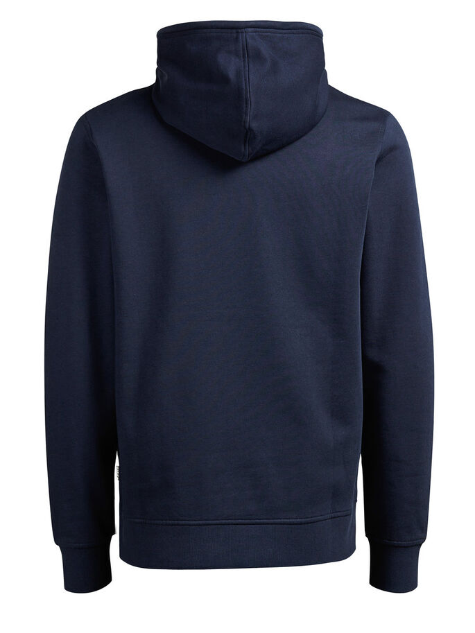 HIGH-NECK- HOODIE, Navy Blazer, large