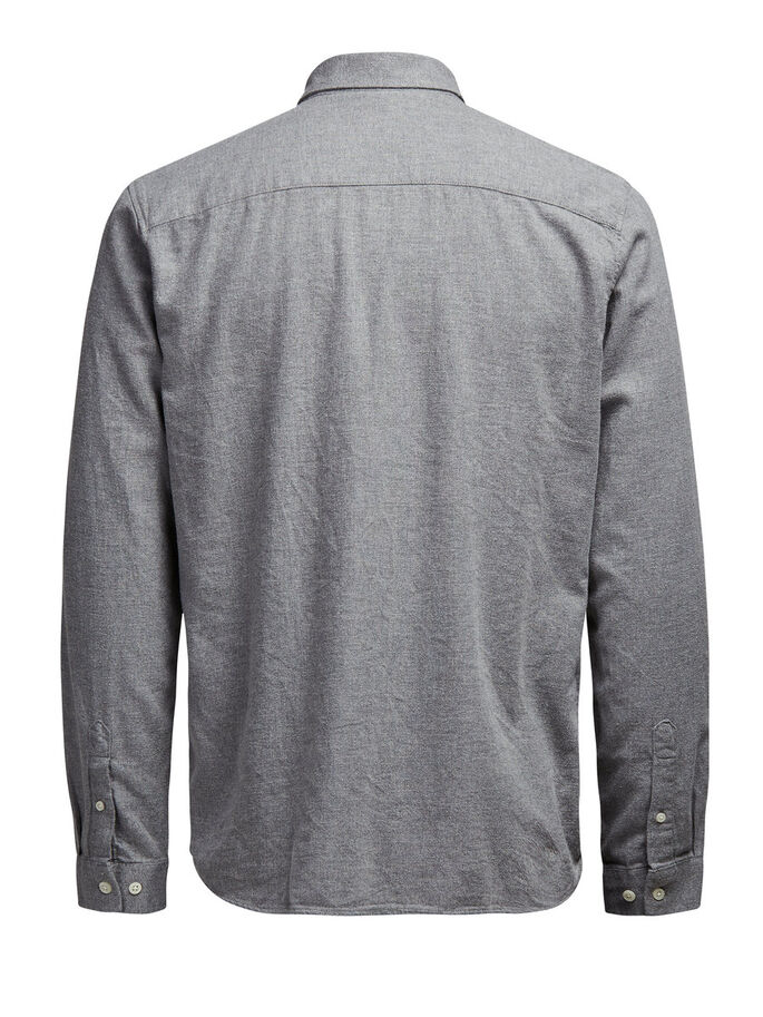 CLEAN-CUT LONG SLEEVED SHIRT, Light Grey Melange, large
