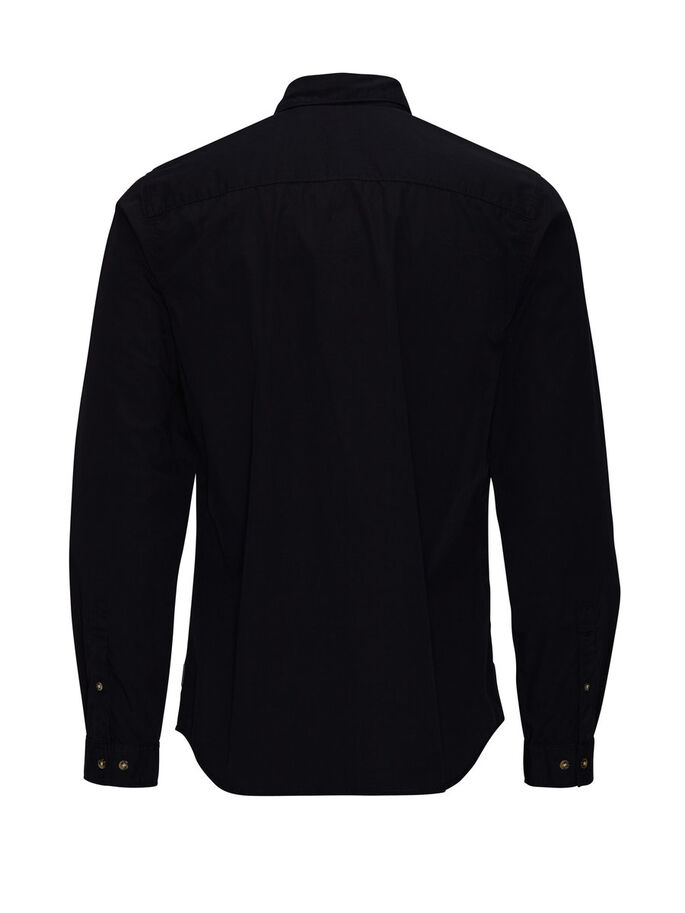 CLASSIC LONG SLEEVED LONG SLEEVED SHIRT, Black, large