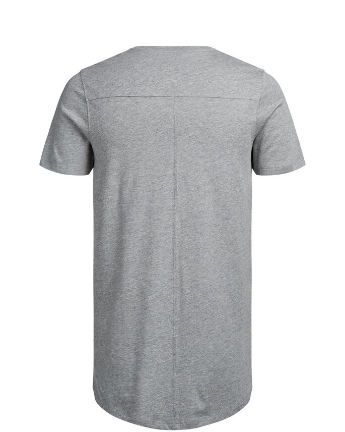GRAFISK T-SKJORTE, Light Grey Melange, large