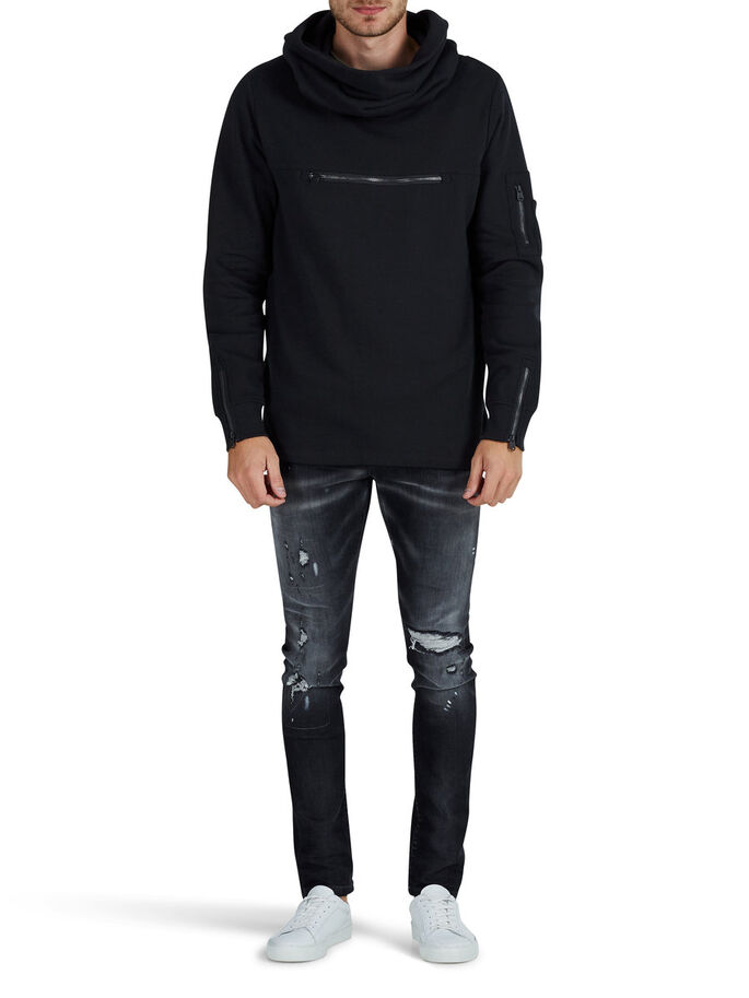 DETALJERT SWEATSHIRT, Black, large