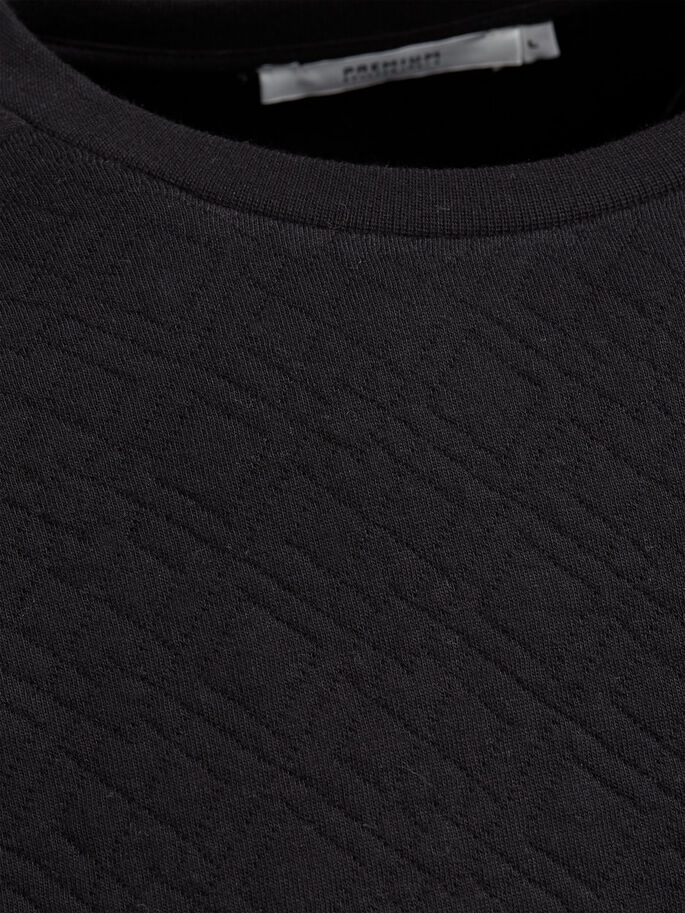 QUILTED SWEATSHIRT, Black, large
