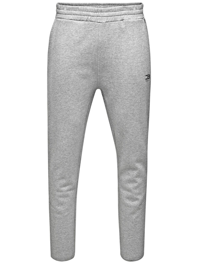 DÉTAILS CONTRASTÉS JOGGING EN MOLLETON, Light Grey Melange, large