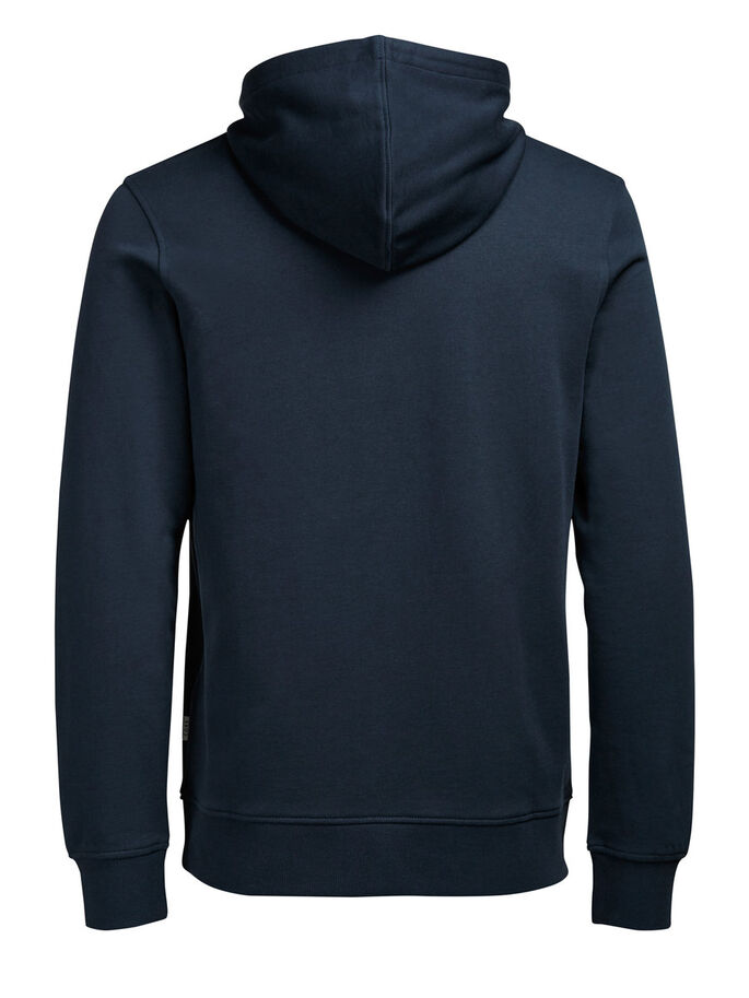 TRYCKT HOODIE, Navy Blazer, large
