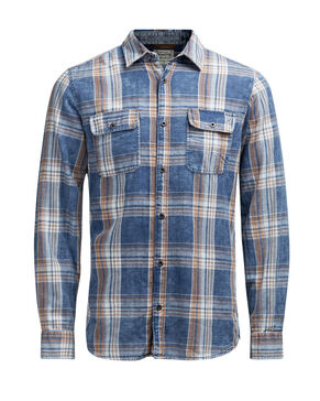 CHECKED UTILITY LONG SLEEVED SHIRT