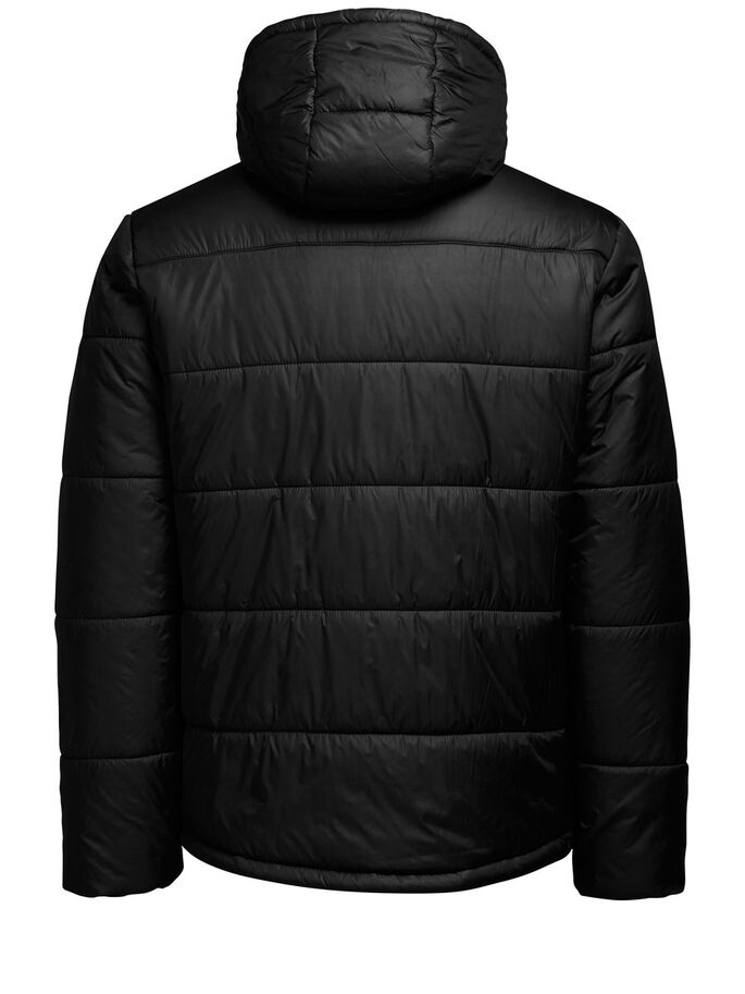 QUILTED JAS, Black, large
