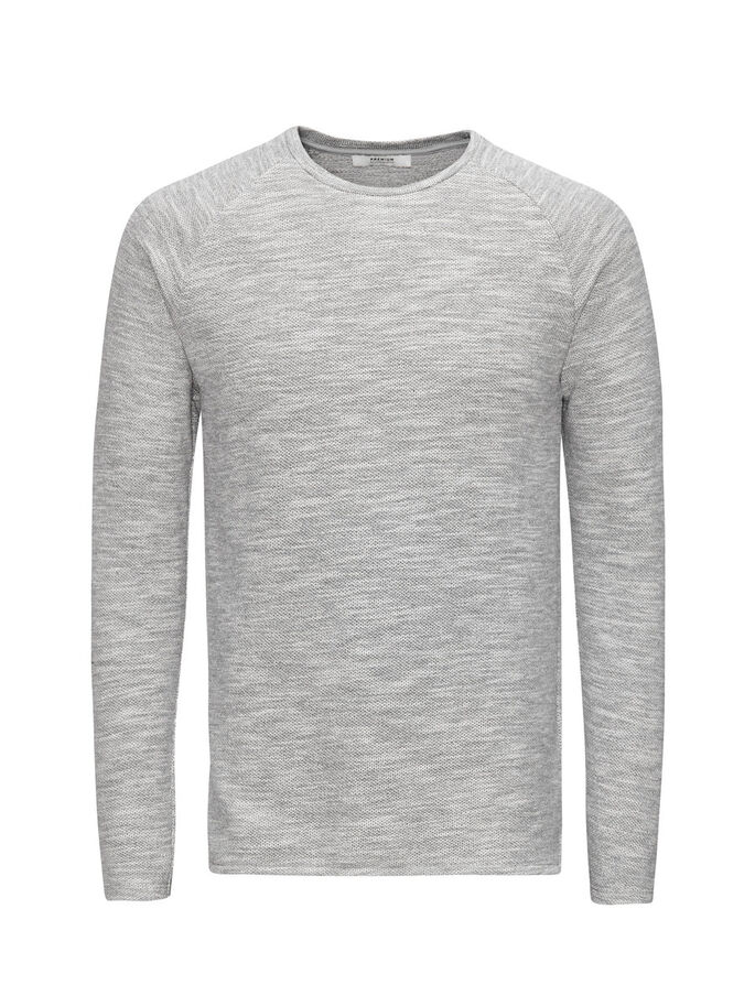 MELANGE SWEATSHIRT, Cool Grey, large