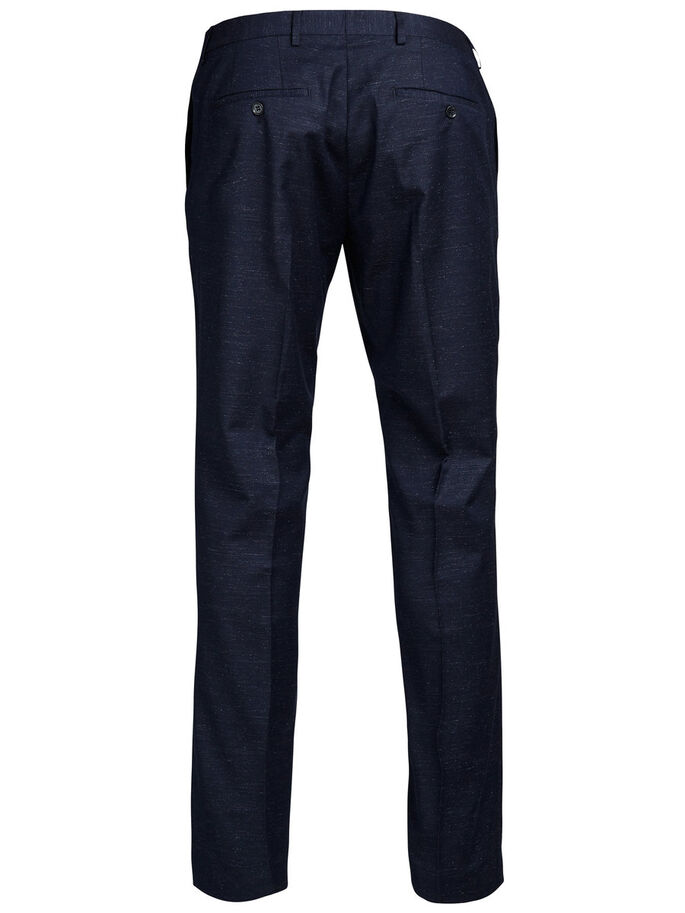 SLIM FIT SUIT TROUSERS, Dark Navy, large
