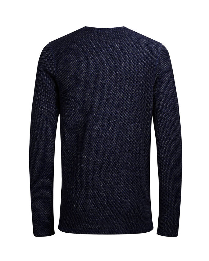 TISSAGE AMPLE SWEAT-SHIRT, Mood Indigo, large