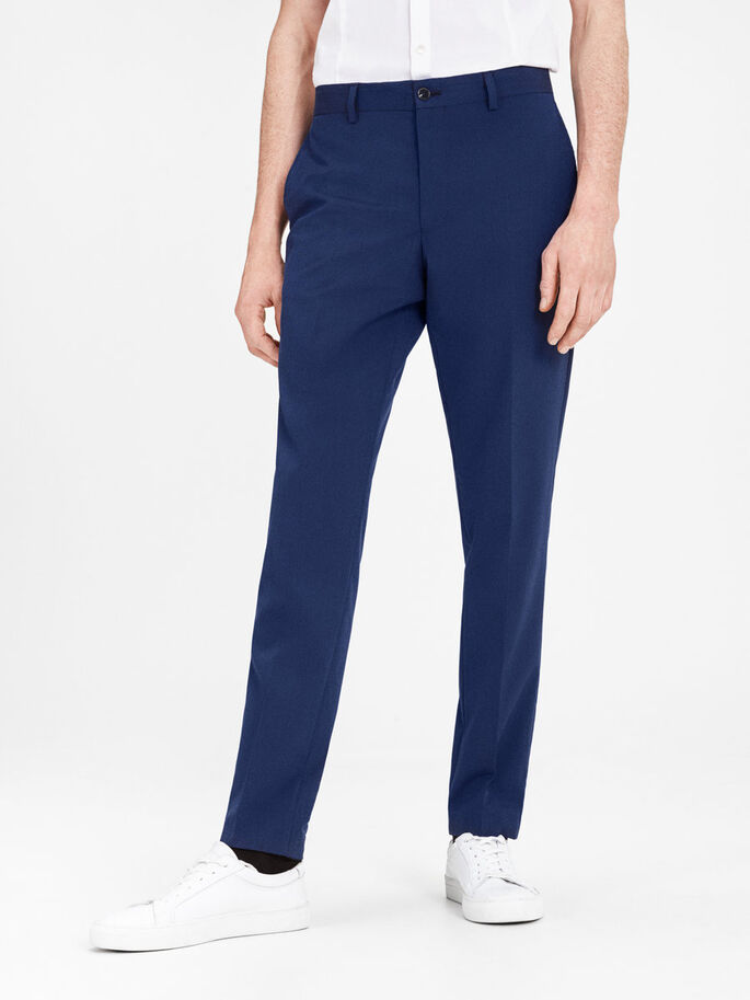 STRUCTURED TROUSERS, Blue Depths, large