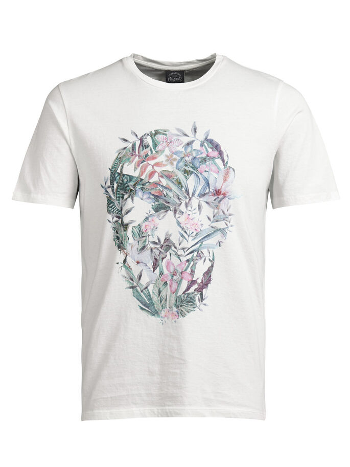FLORAL T-SHIRT, Cloud Dancer, large