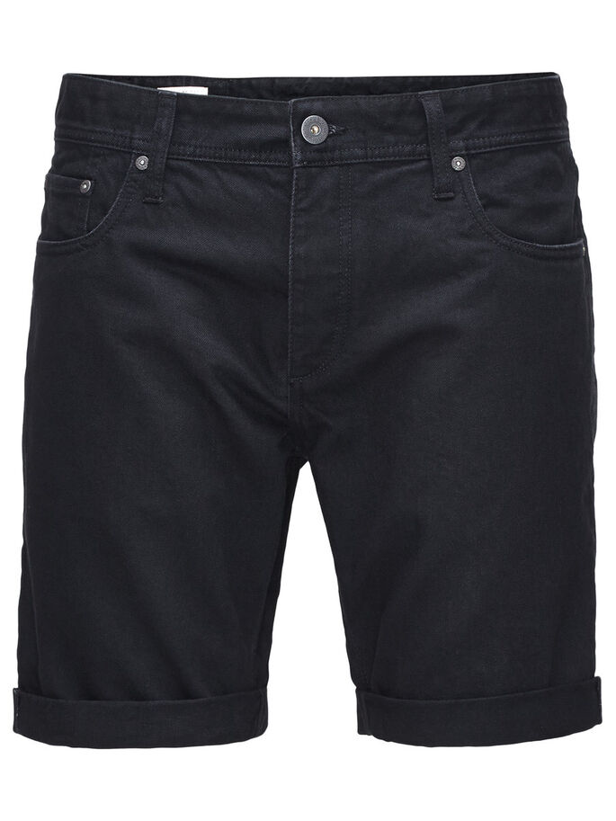 RICK ORIGINAL AKM 767 DENIM SHORTS, Black Denim, large